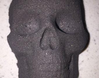 Skull Bath Bomb Lavender Essential oil Bath Salts Skull Bath Bomb Natural Ingridients Black Skull Bath Bomb  Essential Oils