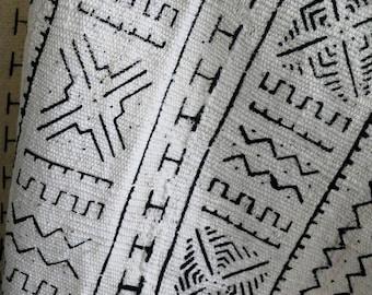 Vintage African Mud Cloth Textile