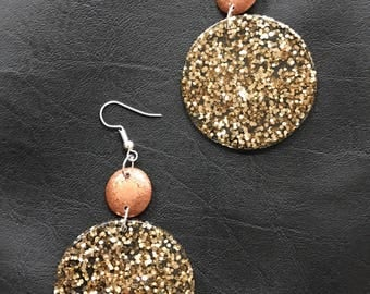 Dangle drop statement resin earrings