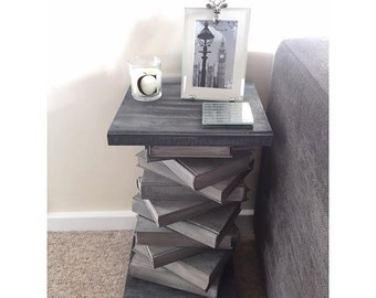 Repurposed Book Side Table// Coffee Table// Home Sweet Home// Furniture// The Little House of Vintage