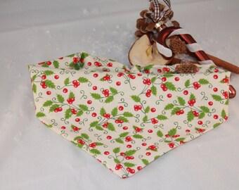 Stylish handmade Mistletoe dog Bandana perfect for Christmas / Xmas limited collar