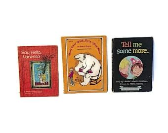 Vintage Children's Books Lot of 3, Children's Books 60's 70's, Rocket Book, Animal Books, Bear Book, Retro Graphics, Children's Ilustrations