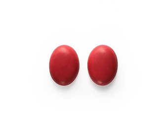 Ceramic Red Velvet Cabochons 1 pair