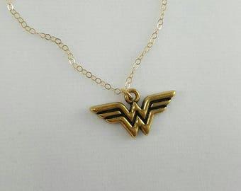 Wonder Woman Necklace - Justice League, D.C. Comics, Girl Power, Super Hero Jewelry