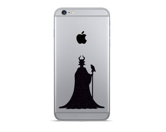 2x Maleficent Disney Decal Stickers iPhone Samsung Galaxy Cell Phone Vinyl Stickers