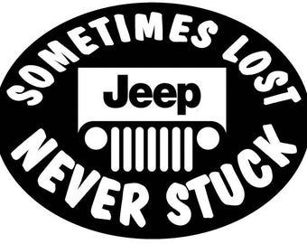 Never Stuck Jeep Decal