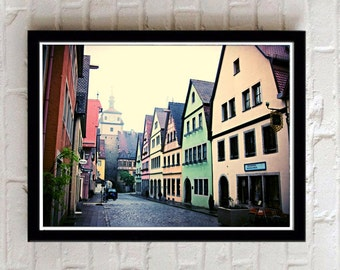 Rothenburg ob der Tauber, Rothenburg Germany, Digital Download, German photography, village, medieval town, Europe picture, Travel photo