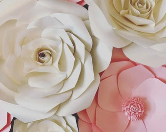 Paper flower rose, wedding backdrop, photobooth, bridal shower, baby shower, party decorations, flower wall, 3d flowers