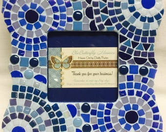 Royal Blue Mosaic Picture Frame