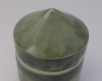 Green Lidded Vessel