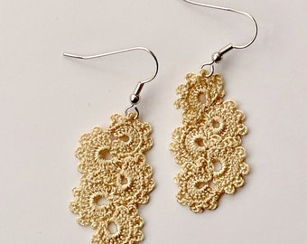 Oya earrings, Turkish lace crochet
