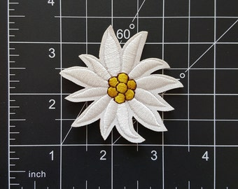 Cute Edelweiss Flower Iron On Patch Free Shipping!
