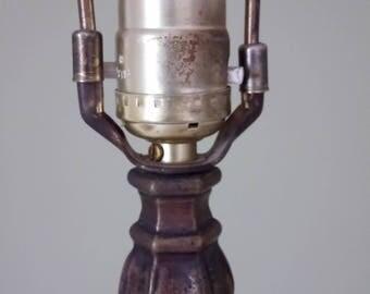 Vintage Brass Crown Lamp Vintage Footed Brass Lamp