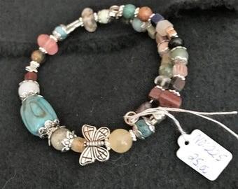 NO 225 Hand Beaded Gemstone Bracelet