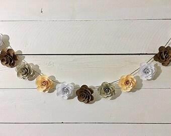 Customizable Handmade Paper Flower Garland- 9 ft.
