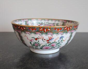 Large Rose Medallion Style Centerpiece Bowl