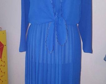 Vintage royal blue dress size 14