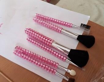 bling  make up brushes