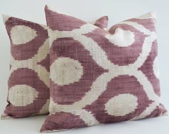 velvet ikat pillow cover purple ikat pillow velvet ikat pillow lumbar pillow