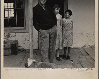 Fine art / reproduction / photography vintage/Format A5 / 1936/Dorothea Lange / family