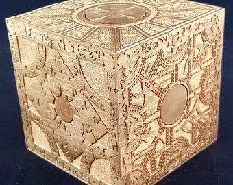 Hellraiser Cube - Functional Puzzle Box - Storage Box - Horror Movie Inspired - Made from Hard Maple - Variation 2