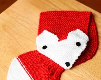 Kid's neck warmer (24 inches long) FOX, Handmade, Scarf