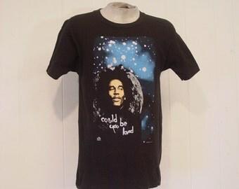 Vintage t shirts, graphic t shirt, Bob Marley t shirt, Regge t shirt, could you be loved, Screen Stars, 80s t shirt, large