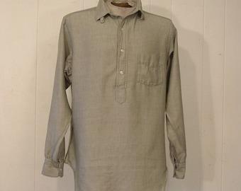 Vintage shirt, 1960s shirt, mens vintage shirt, pull over shirt, Mediium