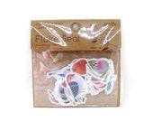 Birds flake stickers - amifa