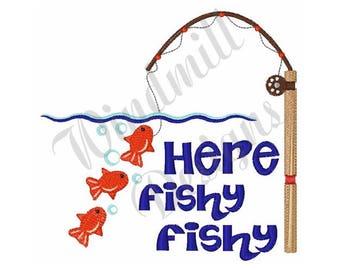 Here Fishy Fishy - Machine Embroidery Design