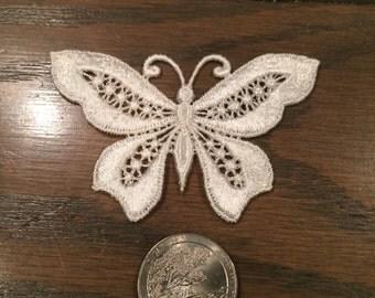Venice Lace Butterfly Appliques