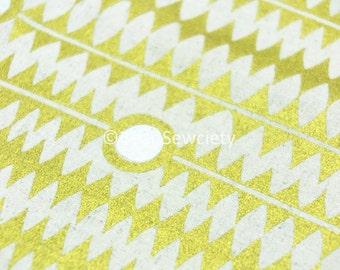 Kokka Fabric, Japanese Fabric, Golden printed - 50cm
