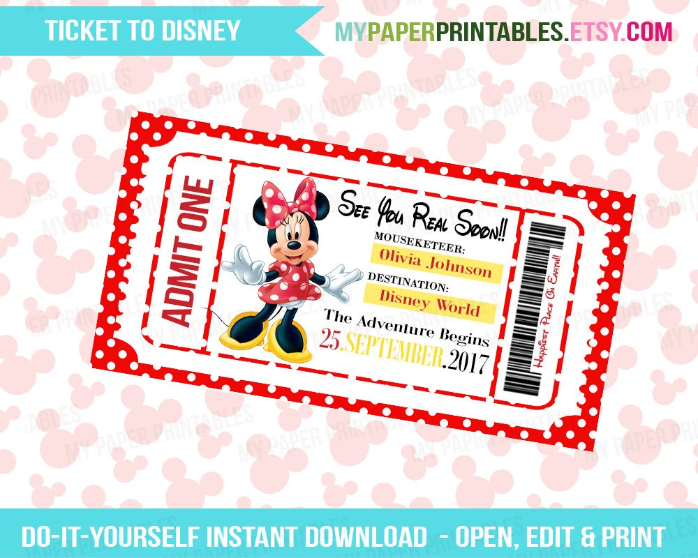 Obsessed image with printable disney tickets