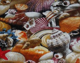 Sea Shells By The Seashore Landscape Fabric