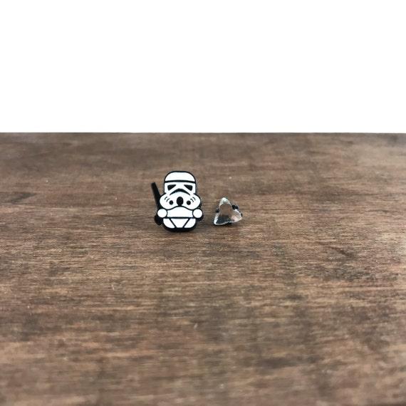 Star Wars Earrings, Star Wars Studs, Storm Trooper Earrings, Storm Trooper Studs, Jedi Earrings, Jedi Studs, Movie Earrings, Movie Studs