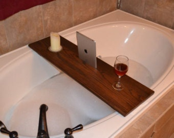 Bath Caddy with Mobile ipad rest, candle holder