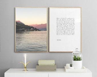 16x20 Lake Como   Modern Collection