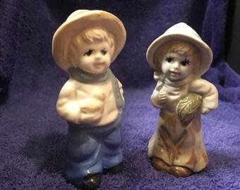 Vintage Porcelain/Ceramic Boy Figurines