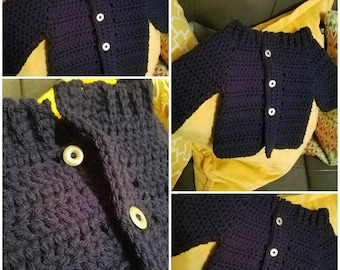 Button down jacket can be custom made in your preferred color.