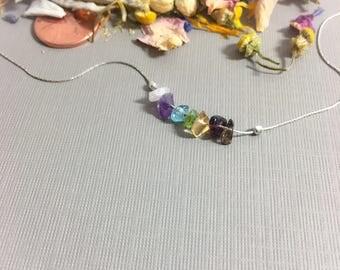 7 Chakra Neckace Chakra Balancing Raw Chakra Crystals Chakra Stones Seven Chakras Colorful Necklace Chakra Jewelry Boho Jewelry Choker