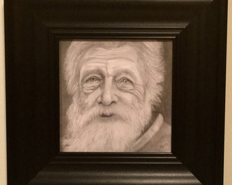 Elderly Man Original Graphite Drawing