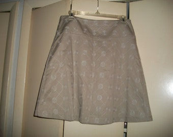 The Limited Vintage Tan Khaki, Lined, A-Line Skirt Size 4