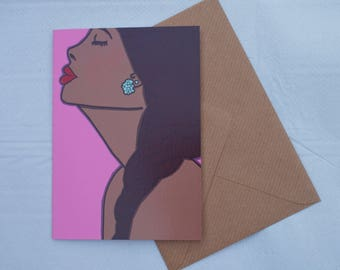 Fashion Illustrated greeting card