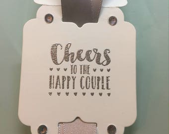 Wedding Bottle Tag, Anniversary Bottle Tag, Wine Tag, Bottle Gift Tag, Silver Embossed Bottle Tag, Stampin' Up! Designs