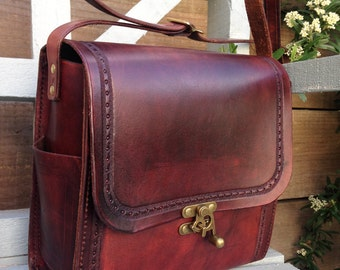 The Graduate Satchel - Leather Handmade