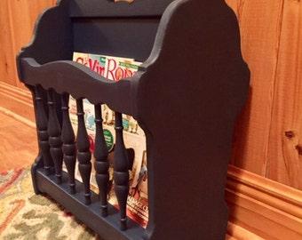 Mid Century wooden magazine rack