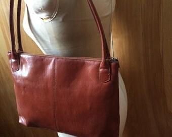 Vintage HOBO international slim tote bag with zippered top