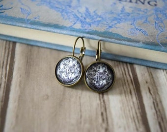 Hogwarts crest earrings