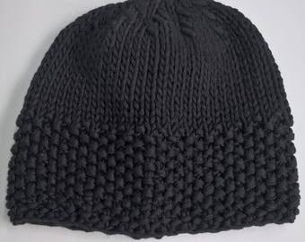 Cotton Beanie - Black