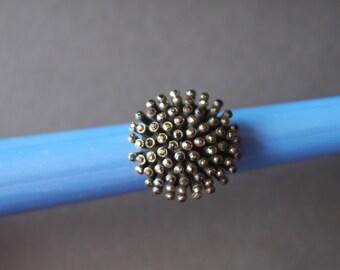 Interesting large marcasite cluster vintage ring